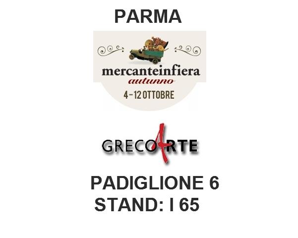 Le opere di Giulio Greco al Mercante in Fiera 2014 presso lo stand della Galleria Greco Arte. Parma, 4 - 12 ottobre 2014